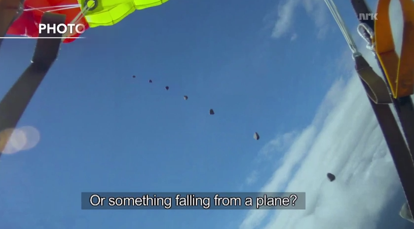 Skydiver Nearly Struck By Meteorite