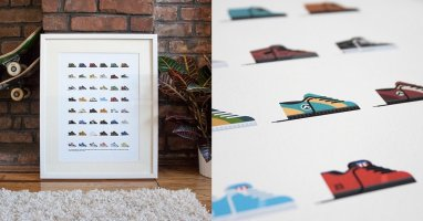 Skate Shoes from the 90s art print - The perfect gift for Christmas!