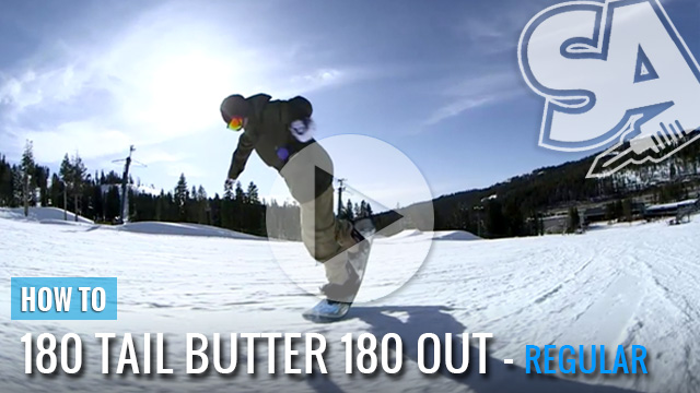 How to 180 Butter 180 Out - Snowboarding Video Trick Tip